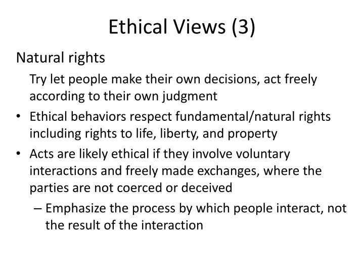 Ethical Views (3)