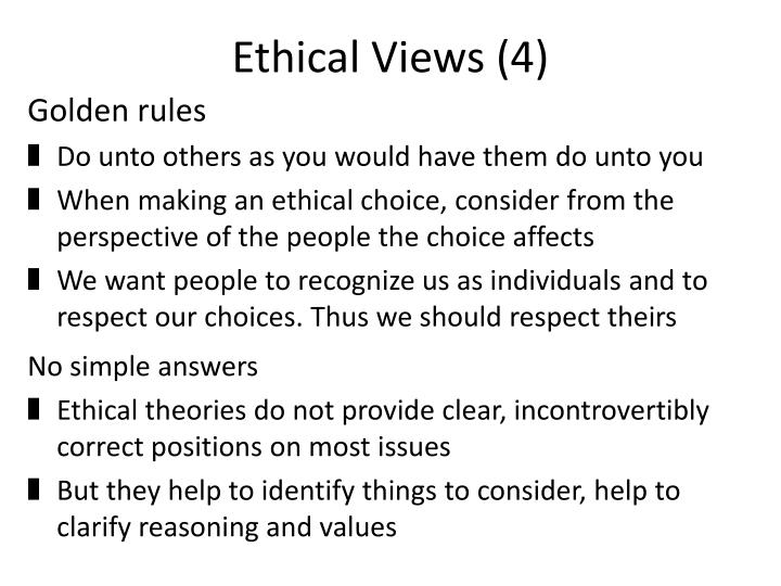 Ethical Views (4)