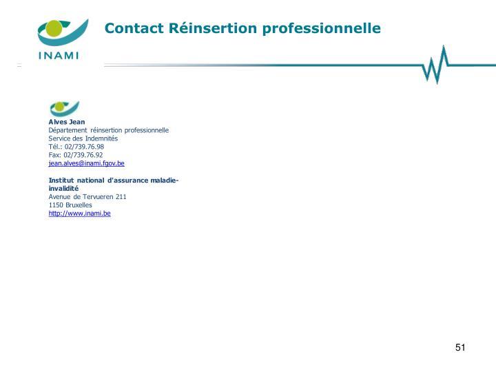 Contact Réinsertion professionnelle
