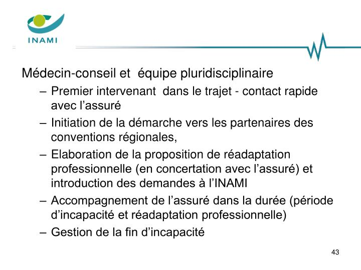 Médecin-conseil et  équipe pluridisciplinaire