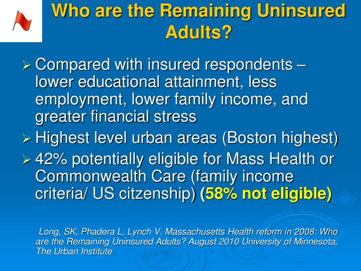 Who are the Remaining Uninsured Adults?