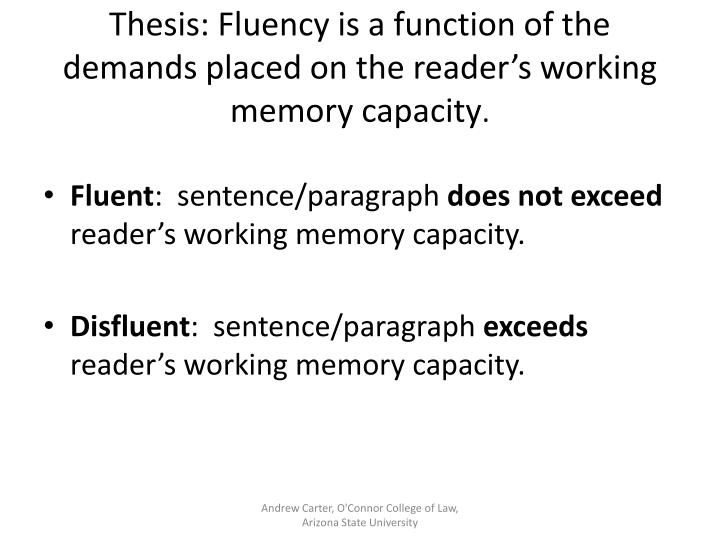 Thesis: Fluency