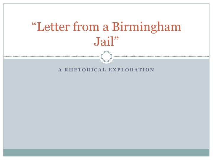 letter from a birmingham jail n.