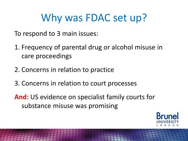 Why was FDAC set up?