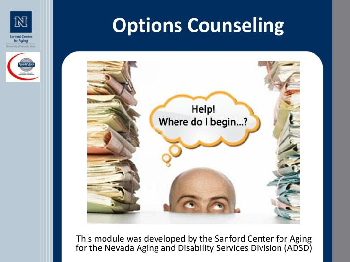 options counseling n.