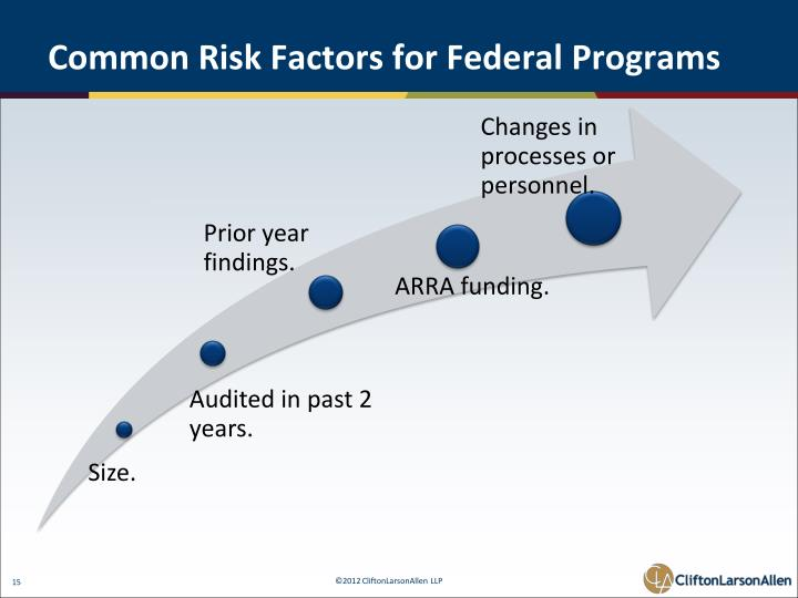 Common Risk Factors for Federal Programs