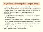 integration vs outsourcing in the transport sector1