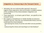 integration vs outsourcing in the transport sector6