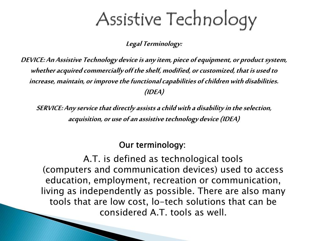 ppt - assistive technology powerpoint presentation - id:1558629