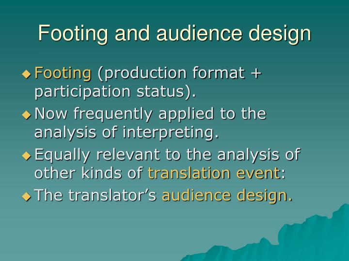 Footing and audience design