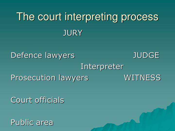 The court interpreting process