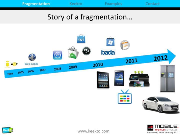 Story of a fragmentation
