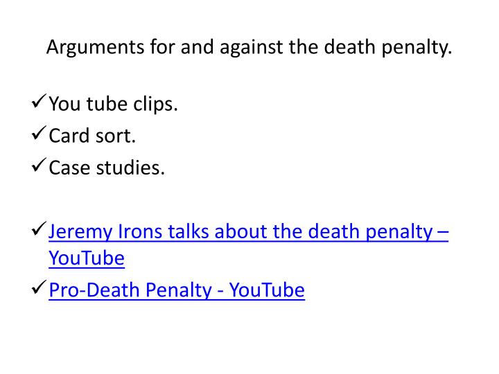 an argument that the death penalty is irrational The argument of whether the death penalty is effective is an age-old and contentious issue many people believe that an eye for an eye mentality is barbaric and goes against basic human morals others are of the opinion that it can be used to prevent further crimes.