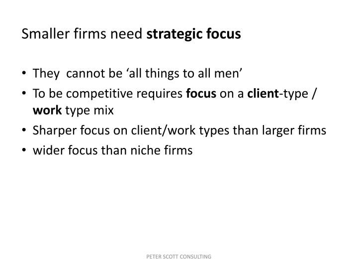 Smaller firms need