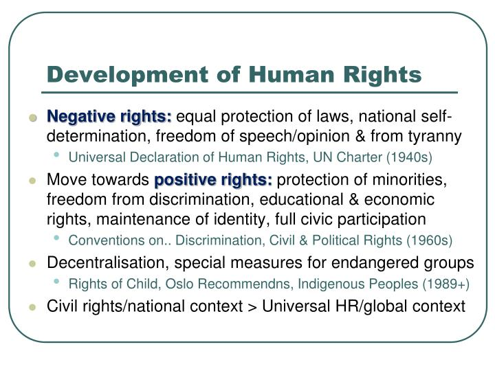 """development of human rights """"shanta, are you against human rights"""" a colleague asked when she saw that i was arguing for the negative in a debate on """"is a concern for human rights needed."""