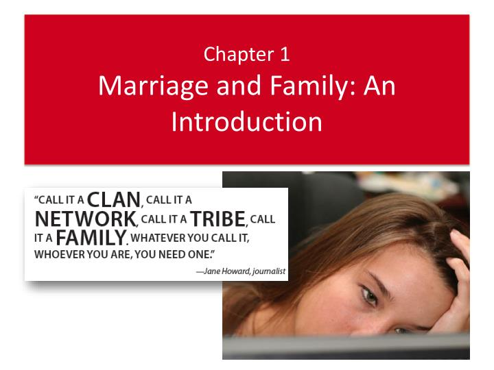 chapter 1 marriage and family an introduction n.