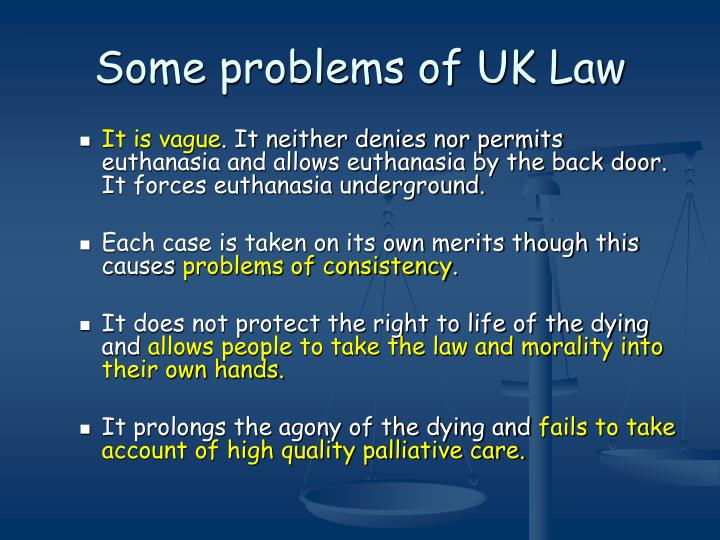 Some problems of uk law