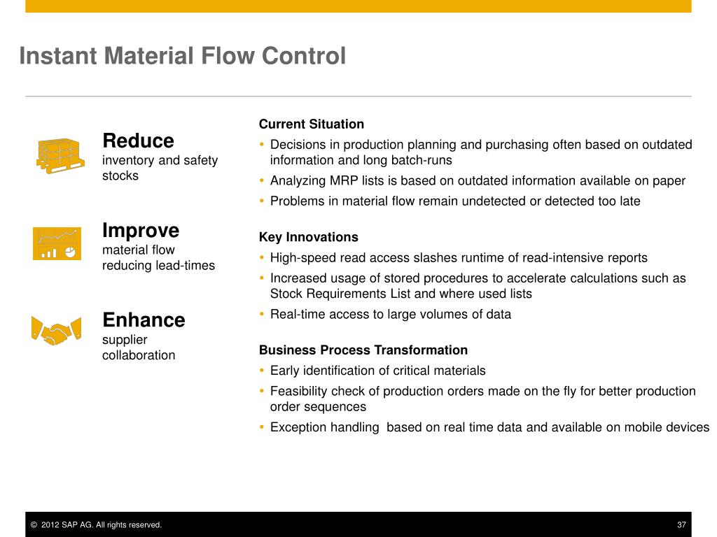 PPT - SAP Business Suite powered by SAP HANA Target: SAP Business