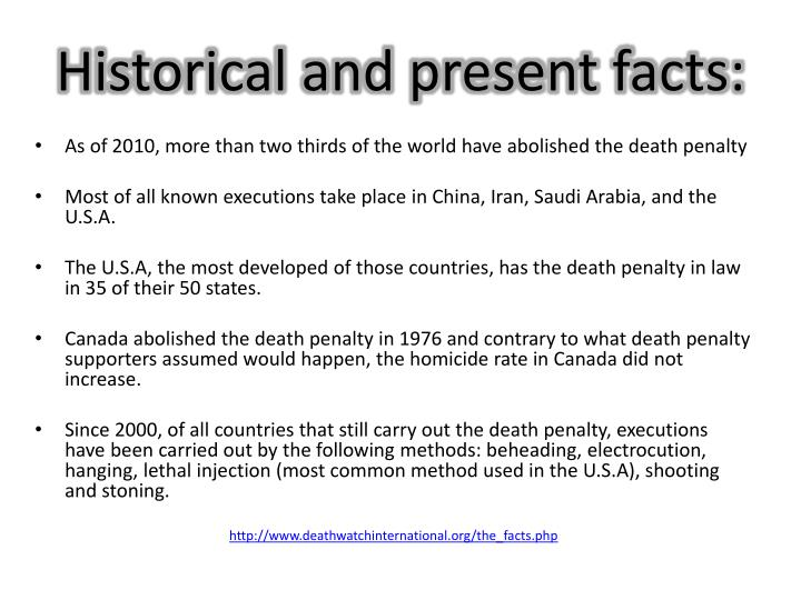 Historical and present facts