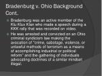 bradenburg v ohio background cont