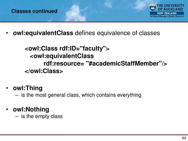 Classes continued