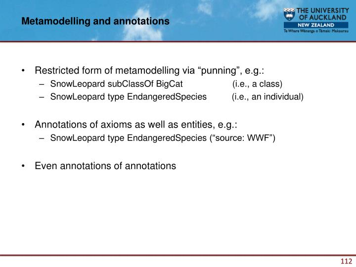 Metamodelling and annotations