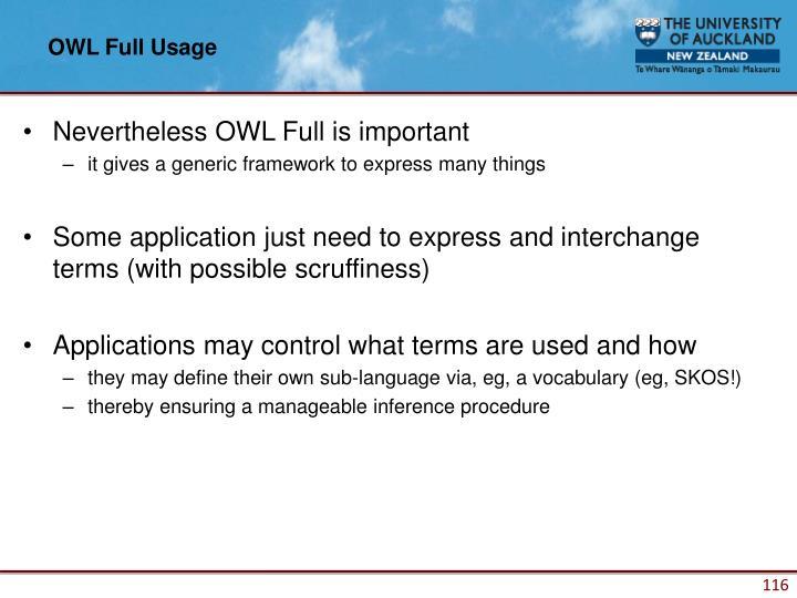 OWL Full Usage