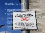 alcohol in italy