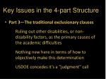 key issues in the 4 part structure1