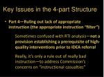 key issues in the 4 part structure2