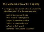 the modernization of ld eligibility