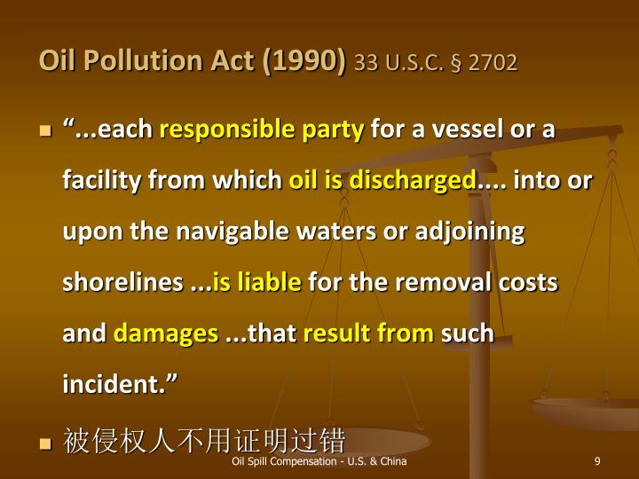 Oil Pollution Act (1990)