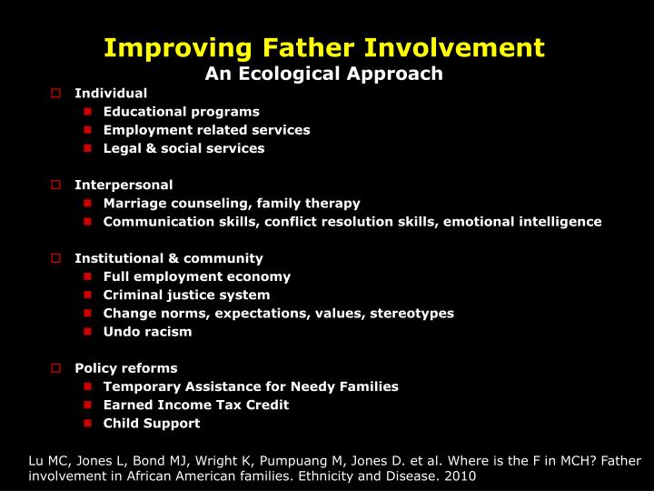 Improving Father Involvement