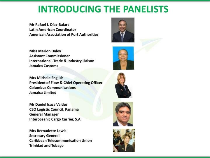INTRODUCING THE PANELISTS