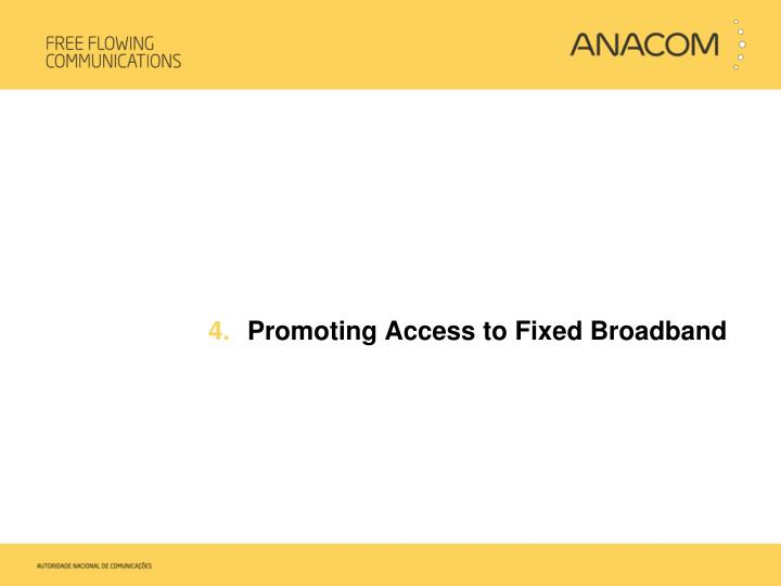 Promoting Access to Fixed Broadband