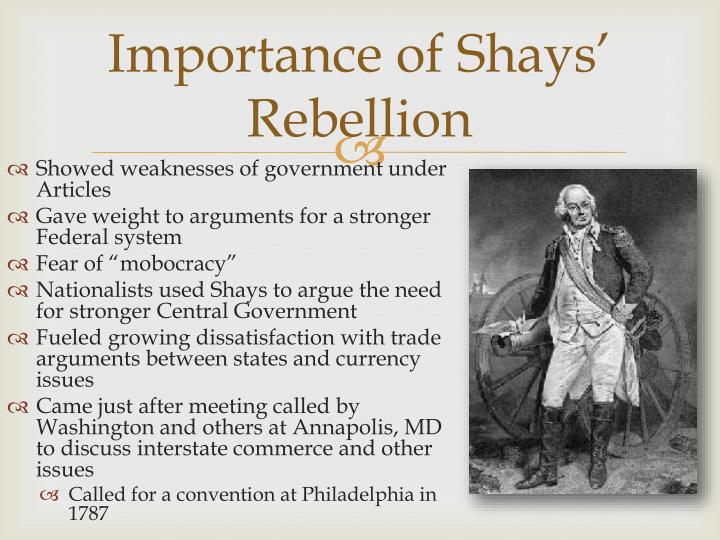 Importance of Shays' Rebellion