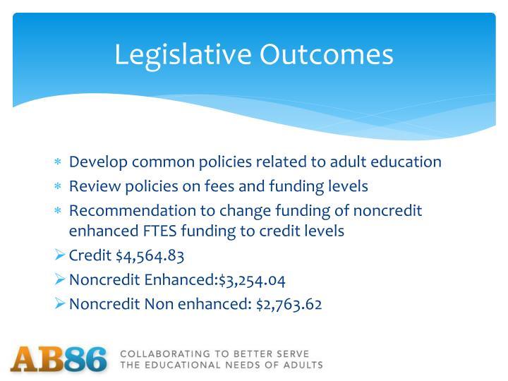 Legislative Outcomes