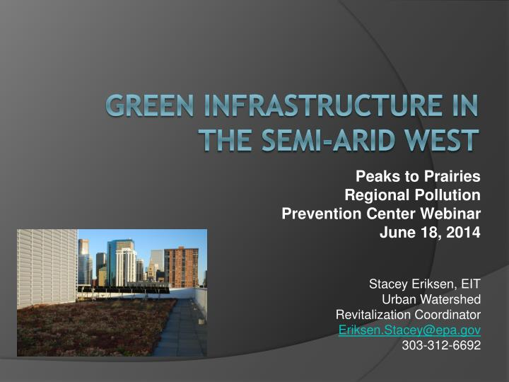 what is green infrastructure environmental sciences essay Urban green infrastructure (gi) has been promoted as an approach to respond to major urban environmental and social challenges such as reducing the ecological footprint, improving human health and well-being, and adapting to climate change.