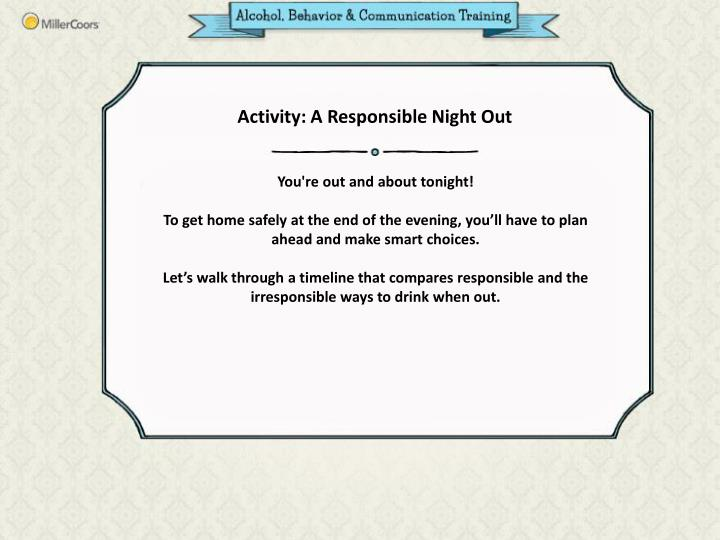 Activity: A Responsible Night Out
