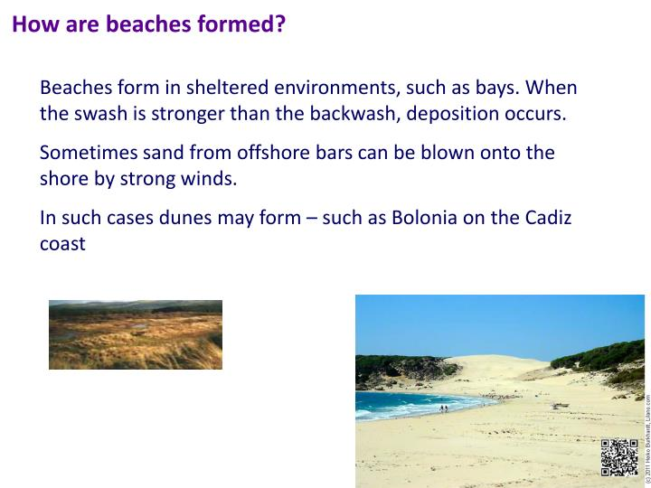 How are beaches formed?