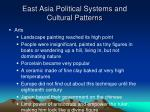 east asia political systems and cultural patterns2