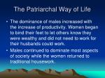 the patriarchal way of life