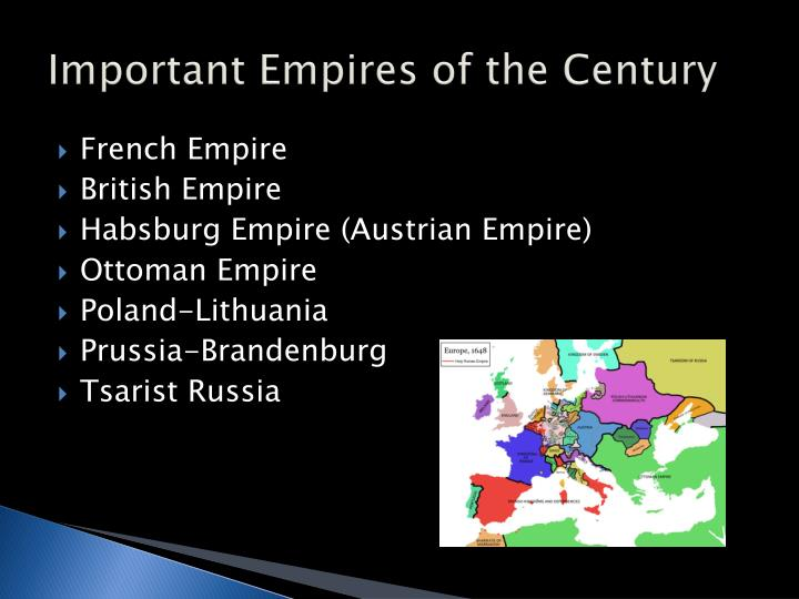 Important Empires of the Century