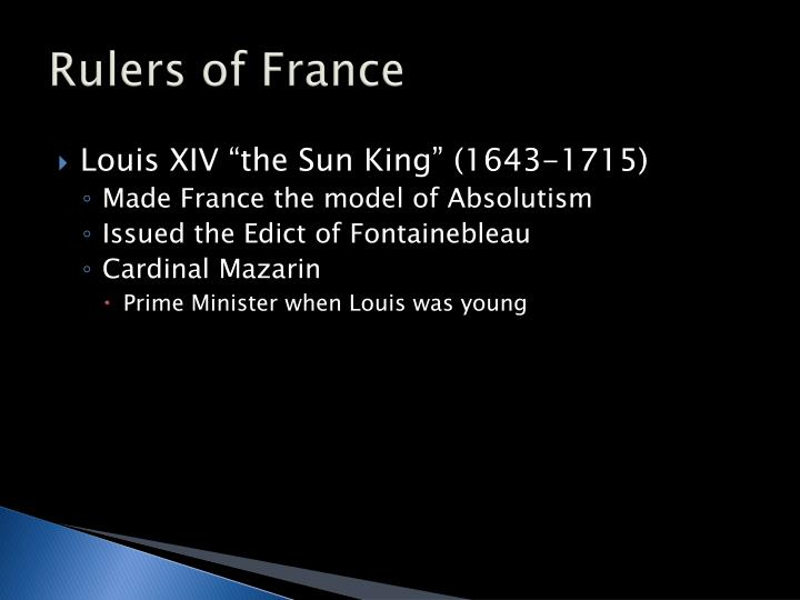 Rulers of France