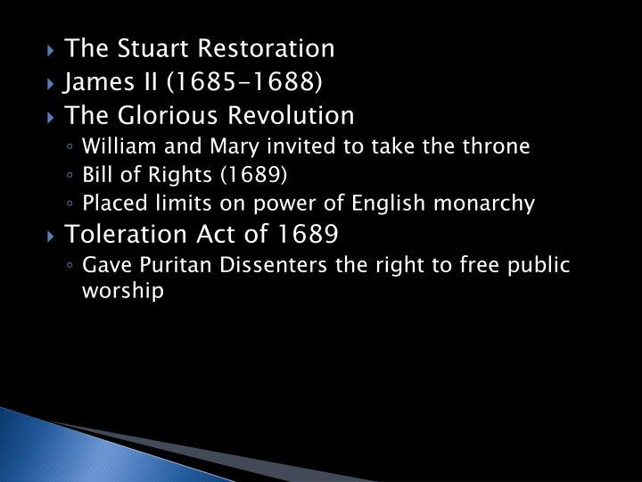 The Stuart Restoration