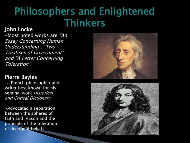Philosophers and Enlightened Thinkers