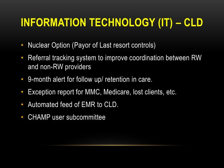 INFORMATION TECHNOLOGY (it) – CLD