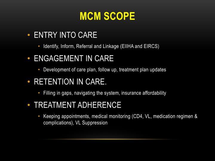 MCM Scope