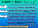 paragraph 4 reason 3 student example
