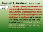 paragraph 5 conclusion student example